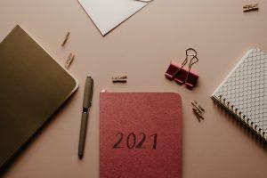 Notebooks on desktop