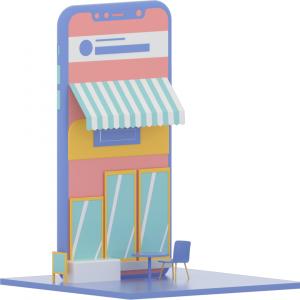 Phone storefront illustration